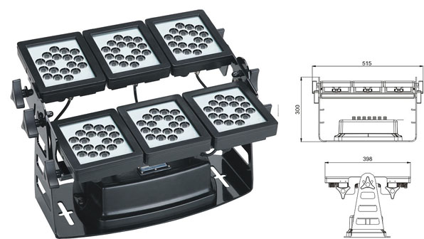 ዱካ dmx ብርሃን,የ LED ግድግዳ መሸፈኛ መብራቶች,220W ካሬ LED flood flood 1, LWW-9-108P, ካራንተር ዓለም አቀፍ ኃ.የተ.የግ.ማ.